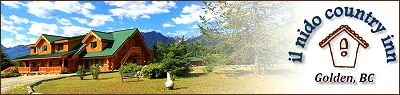 Il Nido Country Inn, Golden BC Accommodation